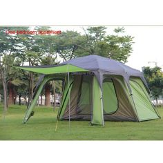 Cheap camping tent, Buy Quality family camping tent directly from China camping family tents Suppliers: Ultralarge double layer outdoor 1 living rooms and family rain-proof camping tent Family Tent, Family Camping, Tent Camping, Campsite, Camping Mats, Pergola, Gazebo, Camping World Bowl, Alabama
