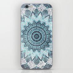 BOHOCHIC MANDALA IN BLUE iPhone & iPod Skin by Nika
