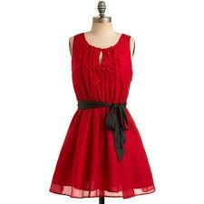 Y'all Red-y For This Dress. A style slam-dunk that's sure to get the chic crowd cheering - that's the phrase that perfectly describes this rad, red dress! Retro Vintage Dresses, Vintage Outfits, Indie Outfits, Fashion Outfits, Women's Fashion, Mod Dress, Dress Up, Red Y, Dark Red
