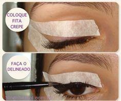 Vintage Winged Eyeliner Tutorial Using Tape #makeuptutorialvintage