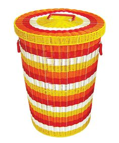 Take a look at this Yellow & Orange Hamper by Karma Living on #zulily today!