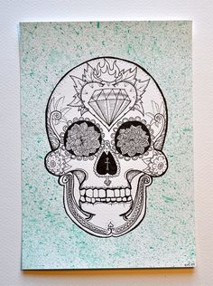 Agh this is amazing. I love sugar skulls.