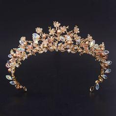 2016 Nueva Moda Magnífico Silver Crystal Tiaras de Novia con la Flor de La Corona de La Boda para La Novia Accesorios de Boda Del Desfile de pelo