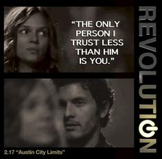 "Revolution - Connor & Charlie #2.18 #Season2  ""Only person in the world I trust less than him [Jason] is you."""
