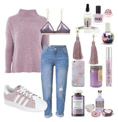 """""""Lavender"""" by dolrebeca ❤ liked on Polyvore featuring Topshop, WithChic, adidas, Free People, Aqua, Origins, LoveStories, Urban Decay, Paddywax and RGB Cosmetics"""