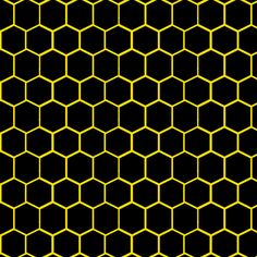 Black and Yellow Beehive Honeycomb Hexagon fabric by bohobear on Spoonflower - custom fabric