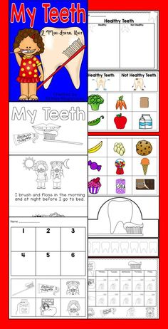 A mini dental health unit. Perfect for a one day unit or a sub. included a book, sorting, sequencing and a hat activity