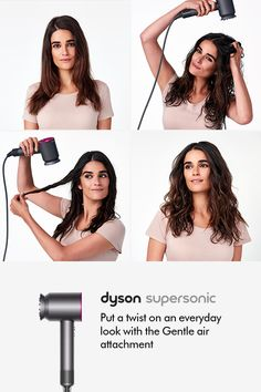 How-to videos on how to use the Dyson Supersonic™ hair dryer. Style hair without extreme heat. Damp Hair Styles, Curly Hair Styles, Natural Hair Styles, Twist Hairstyles, Pretty Hairstyles, Hair Dos, My Hair, Twisted Hair, Blond