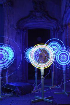 formfreu.de » LLum BCN 2016 Lightfestival Outdoor Bowling, Projection Installation, Mirror Illusion, Barcelona, Led Light Design, Interactive Art, Booth Design, Light Painting, Light Art