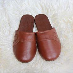Summer Genuine Sheepskin Slippers For Men - Men's Sheepskin Slippers - Sheepskin Slippers