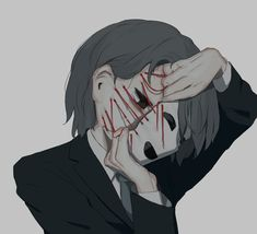 many people suffer but you always think they are happy💫😔. Sad Anime Girl, Anime Guys, Dark Art Illustrations, Illustration Art, Aesthetic Anime, Aesthetic Art, Arte Emo, Arte Obscura, Vent Art