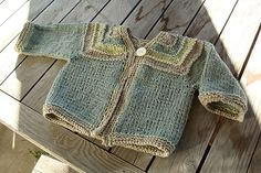 Striped Baby Cardigan by jlrose70, via Flickr