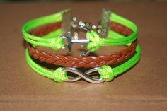 Bracelet infinity karma anchor bracelet infinity by totorovogue, $6.99
