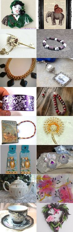 When the Beaded Lady Sings ~ A Potti Team Treasury by Rose Anne on Etsy--Pinned with TreasuryPin.com
