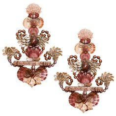 Pair of Parisienne Style Shell Wall Brackets