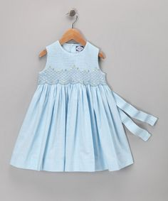 Take a look at this Light Blue Smocked Dress - Toddler by Carriage Boutique on #zulily today!