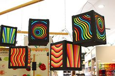 Laternenwoche // Op-Art Illusionen Laterne | LaBlog, die Idéenfabrik von Labbé