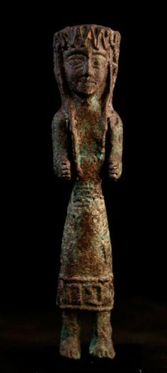 Sabean Bronze Sculpture of a Female Figure - Yemen Circa: 900 BC to 300 BC Dimensions: high x wide Style: Sabean/ South Arabian Medium: BronzeBarakat Gallery Store Ancient Near East, In Ancient Times, Moorish Science, Ancient Artefacts, Horn Of Africa, Anglo Saxon, Bronze Sculpture, Archaeology, Les Oeuvres