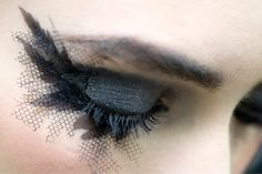 Chanel Haute Couture Spring 2013 - Chanel Eyeshadow  The fishnet look?