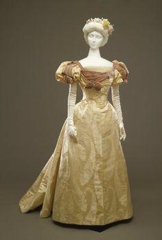Worth evening dress ca. 1896-97From the Galleria del Costume di...