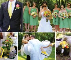 Such fun summer wedding ideas. See more from this yellow and green Knoxville wedding by Lauren Blankenship Photography at @smithview!| The Pink Bride www.thepinkbride.com