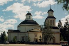 Igreja localizada em Alajärvi, província de Finlândia Ocidental, Finlândia. A igreja de madeira foi construída em 1836 e foi projetada pelo arquiteto Carl Ludvig Engel.  Fotografia: Anneli Salo.
