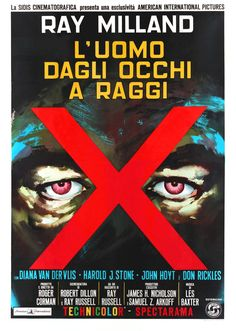 """Despite its limited budget, """"X"""" The Man with X-ray Eyes is more of an A film than a B film. X is also one of Roger Corman's best films. American International Pictures gave Corman more rein than usual on this project. Though with only a $300,000 budget and 15 days to shoot, it was still B level project. The results, however, were far above the usual B. A well-meaning doctor thinks mankind would benefit from being able to see much more than the visible spectrum of light."""