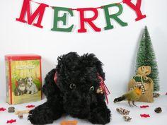 Haggis a cute black scottie dog pyjama case c1930 possibly by Chiltern toys www.onceuponatimebears.co.uk