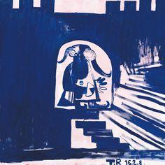 Tal R, Beast Step Down, 2008, Oil on canvas, 185 x 185 cm, Foto: Jochen Littkemann, Courtesy Contemporary Fine Arts, Berlin, © Tal R, Sammlung Essl, Inv. Nr. 5870.
