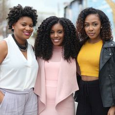 #TBT @heycurlie looking fabulous in Kinky Curly clip ins with @texturedtalk and @thedonibrown    #curlfriends #hair2mesmerize #curlbox #naturalhair #kinkychicks
