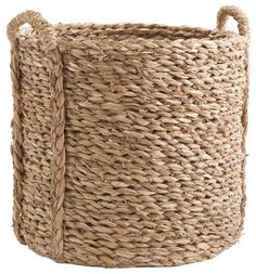 Large Woven Sea Grass Basket - Traditional - Baskets - Wisteria
