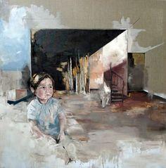 Magdalena Lamri - Childwood 2013 120X120 Oil on canvas
