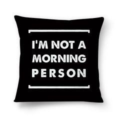 Almofada I'M NOT A MORNING PERSON BLACK de @fabiolagreco | Colab55