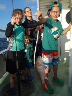 Get those kids out fishing!  Nice mutton snapper caught on our drift #fishing trip out of #FortLauderdale by these kiddos.  Nice catch guys.  Let's go fishing! www.FishHeadquarters.com #kidswhofish #getkidsfishing #takekidsfishing