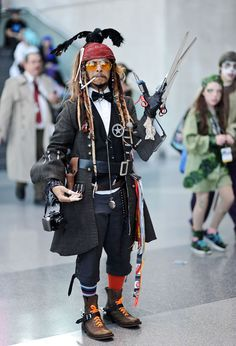 The Very Best Cosplay From New York Comic-Con 2014. I love that he combined all of Johnny Depp's characters.