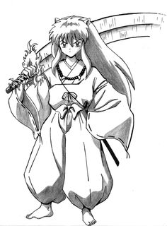 Coloring Pages Of Inuyasha Cartoon For Kids Sheets