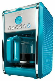 BELLA 13911 Dots Collection 12-Cup Programmable Coffee Maker, Teal by D&H Distributing - Sensio Products, http://www.amazon.com/dp/B00EXOZIF6/ref=cm_sw_r_pi_dpp_v5OIsb1DBZ6TM