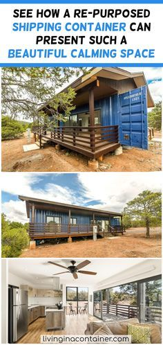 See How a re-purposed Shipping Container Can Present Such a Beautiful Calming Space Clean and Simple. This home is not just a house. it is art. You can now own a comfortable luxurious retreat or money making vacation rental. Sea Container Homes, Shipping Container Home Designs, Shipping Container House Plans, Container House Design, Tiny House Design, Shipping Containers, Best Tiny House, Tiny House Cabin, Cabin Homes