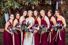 Garden boho inspired bridal bouquets