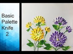 Paint Dahlias flower with Acrylic Paints and a Palette Knife - Basic Ac...