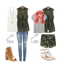 "~~ ""Need It Now: Army Green Canvas Vest // Perfect transition piece!"" www.charmingincharlotte.blogspot.com"