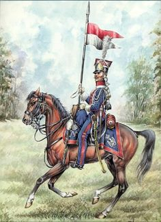 Napoleonic Polish Lancer Prints by Pierre Conrad Lot of 4 published by Le Cimier Military Diorama, Military Art, Military History, Military Modelling, French Army, Napoleonic Wars, Toy Soldiers, American Civil War, Illustration