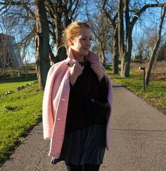 Pink coat from Zara. See more here: http://www.kathrinerostrup.dk/2013/11/pink-in-action/