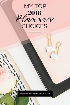 The Organized Dream: My Top 2018 Planner Choices