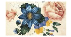 Study of Flowers, from a watercolour by Charlotte Bronte ~ Bronte Parsonage Museum