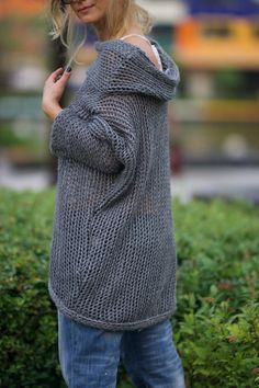 Loose Knit Sweater Wool Sweater Winter Sweater by VisibleArt