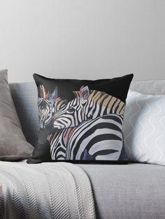 Hugging zebras pillow Zebras, Throw Pillows, House, Ideas, Toss Pillows, Cushions, Home, Decorative Pillows, Decor Pillows