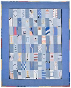 'Richard's Conversations,' a memorial quilt designed by Lori Mason Lucky Penny, Man Quilt, Flower Patch, Custom Quilts, Quilting Designs, Quilting Ideas, Quilt Making, Fun Projects, Textile Art