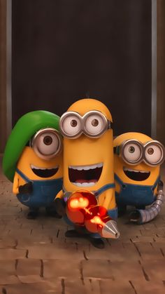 ↑↑TAP AND GET THE FREE APP! Art Cartoon Fun Despicable Me Minions 2015 Blue Yellow HD iPhone 6 plus Wallpaper