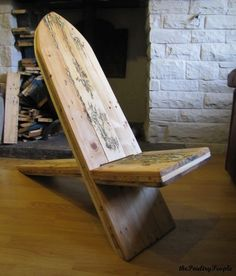 Viking Chair With Lichtenberg Figure Filled With Glow In The Dark Resin